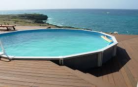 V Above Ground Pool Decks For Round Concrete Deck