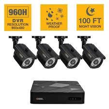 q see 8 channel 1080p 2tb full hd surveillance system 4 4 channel 960h 500gb surveillance system 4 bullet cameras and 100