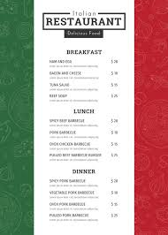 Sample Breakfast Menu Template Awesome Restaurant Menu Template 48 Free PSD AI Vector EPS Illustrator