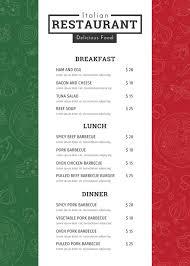 32 Breakfast Menu Templates Free Sample Example Format