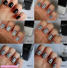 In SAMazement: Dog Tooth Pattern Nail Art