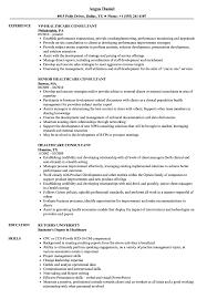 Sample Healthcare Consultant Resume Healthcare Consultant Resume Samples Velvet Jobs 2