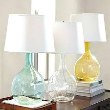 glass nightstand lamps colored glass base table lamp clear glass