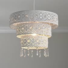 new unique 3 tier moroccan white jewelled droplet pendant light chandelier cut out