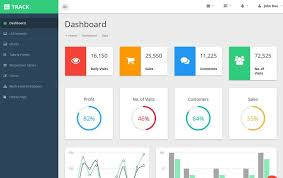 Track Material Design Free Admin Template Admin Panel