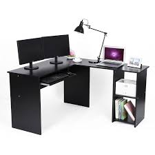office computer desk. Songmics L-Shaped Office Computer Desk Large Corner PC Table With Sliding Keyboard And 2
