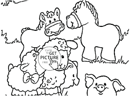 Free Farm Animal Coloring Pages Animals Page Funny Barnyard