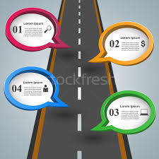 Road Infographic Design Template And Marketing Icons Vector