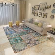 Bunte Rechteckige Teppich Wohnzimmer Couchtisch Schlafzimmer Bereich
