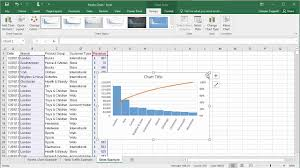 Create Pareto Charts In Excel 2016