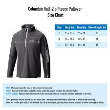 Columbia Shirts Size Chart