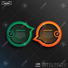 Vector Infographic Design With Colorful Circle On The Black Background