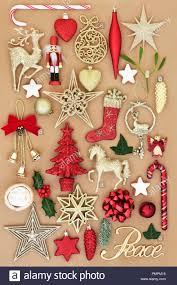 Christmas Peace Zeichen Mit Retro Christbaumkugel