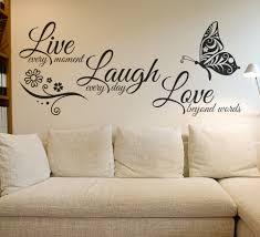live love laugh wall decor wood live laugh love erfly flower wall art sticker modern wall