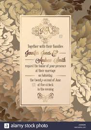 Baroque Wedding Invitations Vintage Baroque Style Wedding Invitation Card Template Elegant
