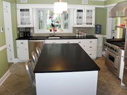kitchens with dark cabinets and light granite glass access door storage ideas bath island curved white