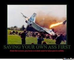 Saving your own ass first