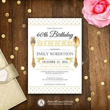 Dinner Invation Birthday Dinner Invite Printable Birthday Dinner Invitations Gold Polka Dots Any Ages Diy Instant Download Golden Rustic Editable Text