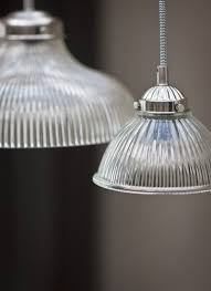 our petit paris light with shaped glass shades and nickel coated