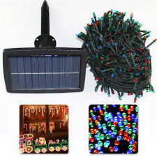 360 Led Solar Icicle Christmas Lights White Blue  GraysonlineSolar Panel Fairy Lights