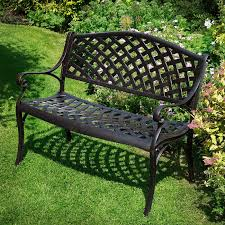 garden benches metal. Unique Benches Choose The Antique Bronze Jasmine Bench For Its Classic Look Throughout Garden Benches Metal T