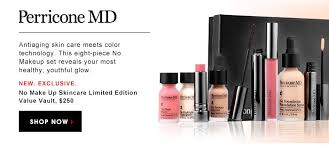 perricone md antiaging skin care meets color technology this eight piece no makeup set