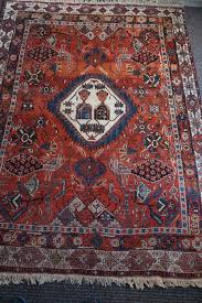hand knotted persian carpet afshar
