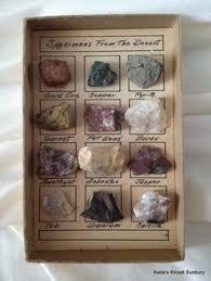 Vintage Specimens Rock Display From The by katiesklosetsunbury, $24.00
