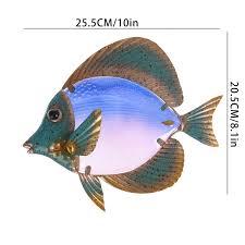 glass fish wall art metal artwork
