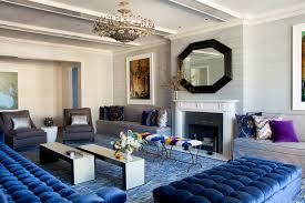 large modern blue area rug
