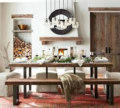 pottery barn dining table. Barn Dining Table Griffin Reclaimed Wood Fixed Pottery Urban Distillery . A