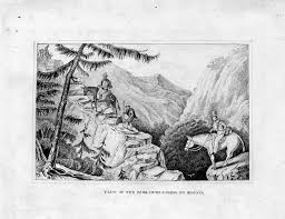 this small but beautifully executed drawing shows the difficulty of crossing the high andean pes in