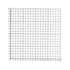 Large Four Quadrant Numbered Graph First Paper Printable Single