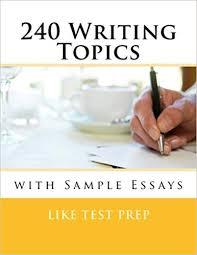 Example Essays Topics Amazon Com 240 Writing Topics With Sample Essays How To