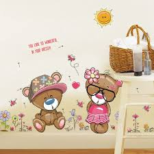 wall sticker new 2017 sk7009 the lovely couple bear diy home decorative wall stickers wenzhou anyang printing co ltd wenzhou shenao