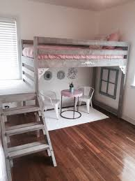 lighting for lofts. Exciting White Tile Modern Gray Hardwood Painted Bunk Bed Brown Ceramic Laminate Flooring Recessed Lamp Lighting Pink Sponge Upholstred Pillow Table Chair For Lofts