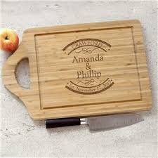 end elished in bamboo cheese carving board personalized wedding gifts for couple