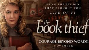 the book thief jpg based on the best selling novel by markus zusak s the book thief tells the story of 12 year old liesel meminger a young girl who we first meet on a
