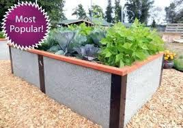 raised bed kit tall rectangle garden kitchen design oak kits uk metal