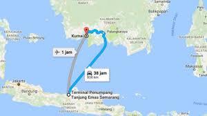 Image result for peta rute semarang ke sampit kapal laut
