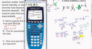 exponential functions point ratio form