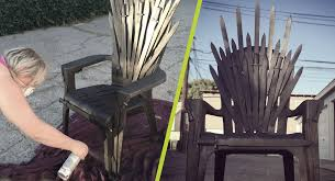 life size iron throne diy game of thrones iron throne