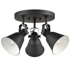 Lithonia Lighting 2all Eul Industrial Semi Flush Mount Ceiling Light Adjustable Metal Lighting Fixture Matte Black 3 Light
