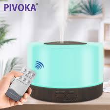 PIVAKA 500ml Remote Control Ultrasonic Air <b>Aroma Humidifier</b> 7 ...