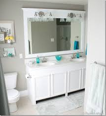 bathroom how to frame a mirror with crown molding bathrooms