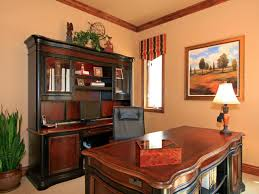 office backdrop. A Neutral Wall Provides The Perfect Backdrop For This Executive-style Home Office. Traditional Office L