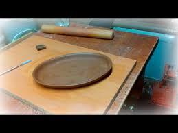 Как делают <b>тарелку</b> овальной формы из глины - YouTube