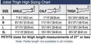 Jobst Hose Size Chart Jobst Opaque Open Toe Thigh High 20 30 Mmhg Firm Support Stockings