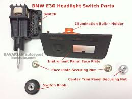 bmw e30 headlight switch removal diy 325i and others bavarian autosport blog