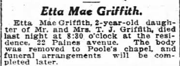 Obituary for Mae Griffith - Newspapers.com